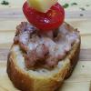 Bruschetta salsiccia italiana